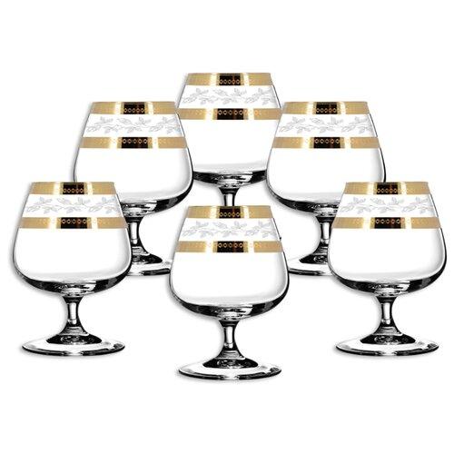 ГУСЬ-ХРУСТАЛЬНЫЙ Набор бокалов для бренди Лоза TAV116-1812 6 шт прозрачный/золотой гусь хрустальный набор бокалов для бренди лоза tav116 1812 6 шт прозрачный золотой