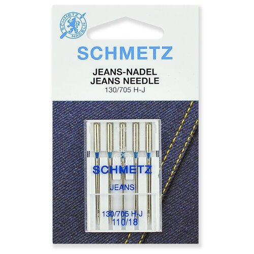 Игла/иглы Schmetz Jeans 130/705 Н-J 110/18 серебристый