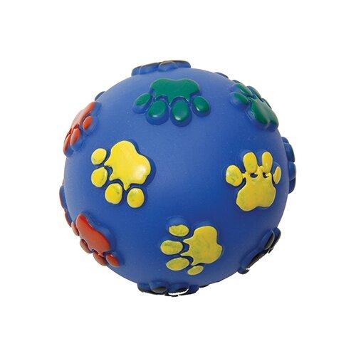 Мячик для собак КАСКАД Мяч Лапки (27754624) синий