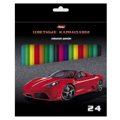 Hatber цветные карандаши Машинки, 24 цвета (Кс24_04)Цветные карандаши<br>