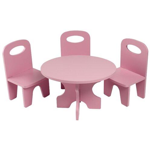 Купить PAREMO Набор мебели для кукол Классика (PFD120-39/PFD120-37/PFD120-41/PFD120-38/PFD120-40) розовый, Мебель для кукол