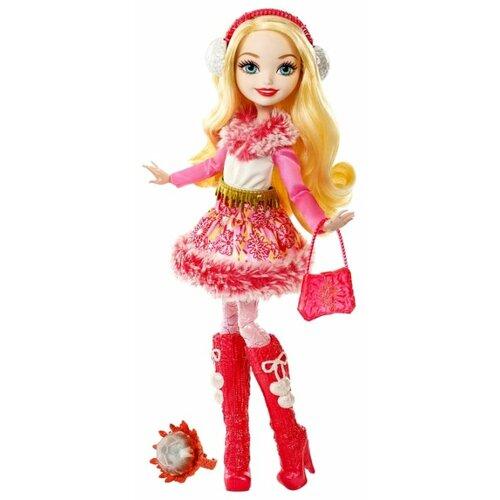 кукла mattel ever after high сказка наизнанку седар вуд cdm49 cdm51 Кукла Ever After High Эпическая зима Эппл Уайт, 26 см, DPG88