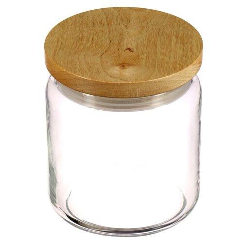 Luminarc Банка с деревянной крышкой Box Mania 0,75 л прозрачный/бежевыйБанки для хранения<br>