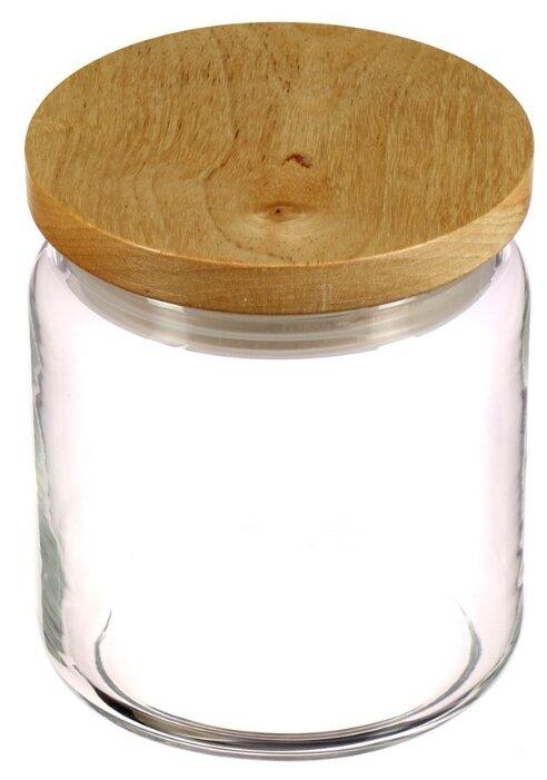 Банка LUMINARC Box Mania 0,75л с деревянной крышкой 48802