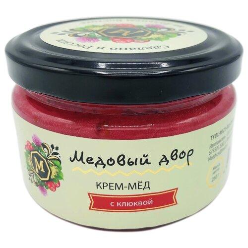 Крем-мед Медовый двор с клюквой 250 г