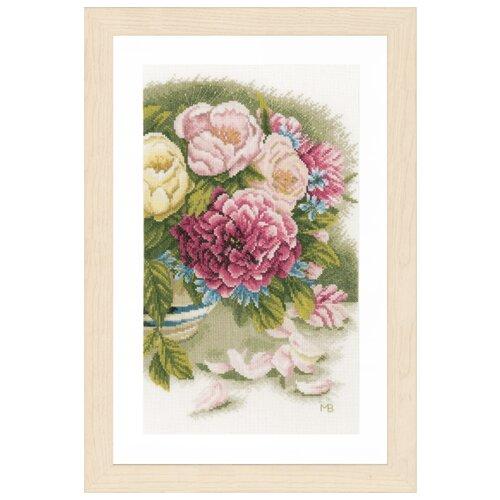 Купить Lanarte Набор для вышивания Peony roses (Пионы) 24 х 37 см (PN-0167126), Наборы для вышивания