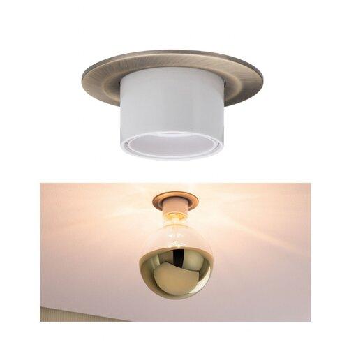 Светильник встаиваемый Nova Retro E27 max1x10W Br 93669 светильник spotlight teja max1x10w gu10 ni sat mt