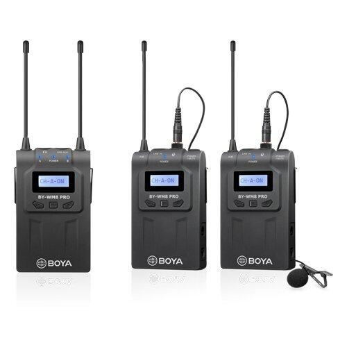 Двухканальная УКВ беспроводная микрофонная система Boya BY-WM8 PRO-K2