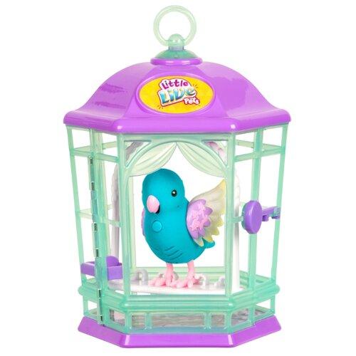 Купить Интерактивная игрушка робот Moose Little Live Pets Птичка в клетке 28548 голубой, Роботы и трансформеры