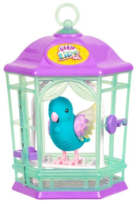 Интерактивная игрушка робот Moose Little Live Pets Птичка в клетке 28548