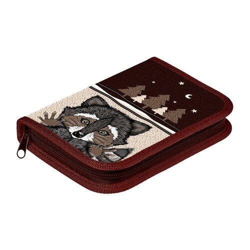 Купить Hatber Пенал Raccoon (NPn_27064) коричневый, Пеналы