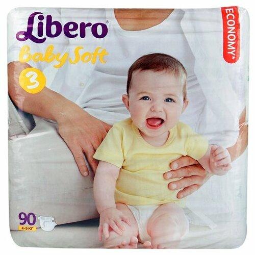 Libero подгузники Baby Soft 3 (4-9 кг) 90 шт. подгузники для малышей libero newborn 2 3 6 кг 94 шт