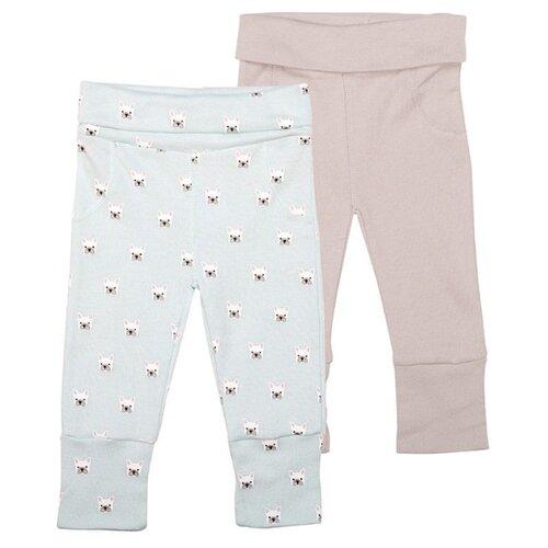 Брюки Happy Baby 90032 размер 56, голубой/розовый брюки happy baby baby crawlers set 90034 размер 56 зеленый белый