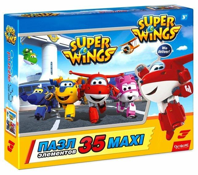 Пазл Origami SuperWings Дружная команда (03030), 35 дет.