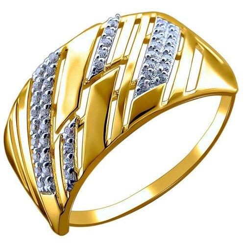 Эстет Кольцо с 43 фианитами из красного золота 01К1113359, размер 22