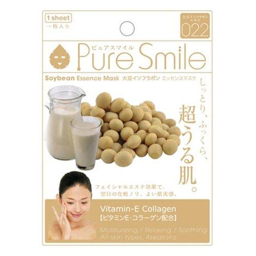 Sun Smile тканевая маска Pure Smile Soybean Essence с экстрактом соевых бобов, 23 мл sun smile тканевая маска yogurt mask увлажняющая с экстрактом отрубей 23 мл