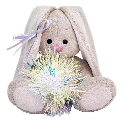 Мягкая игрушка Зайка Ми с новогодней подвеской 15 см