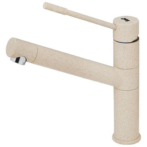 Смеситель для кухни (мойки) smeg ME7A однорычажный гранит овес смеситель для кухни мойки smeg me6 однорычажный овес
