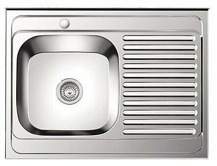 Накладная кухонная мойка Ledeme L98060-L 80х60см нержавеющая сталь