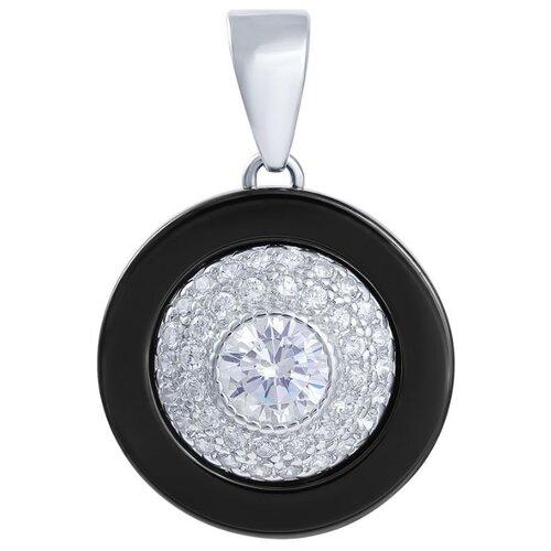 цена на JV Подвеска с керамикой и фианитами из серебра CAS2351-PD-001-WG