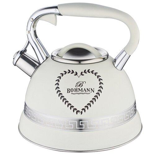 Bohmann Чайник BH-9911 3 л, белый bohmann чайник bh 9911 3 л оранжевый