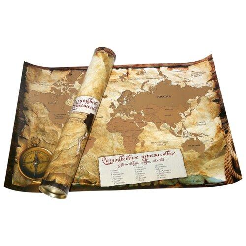Купить Правила Успеха Карта мира А1 со стираемым слоем в тубусе (4610009216652), 85 × 60 см, Карты
