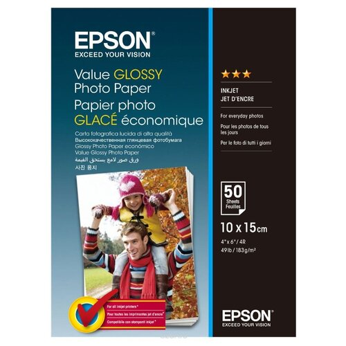 Фото - Бумага A6 50 шт. Epson Value Glossy Photo Paper бумага a6 50 шт bursten hdr белый