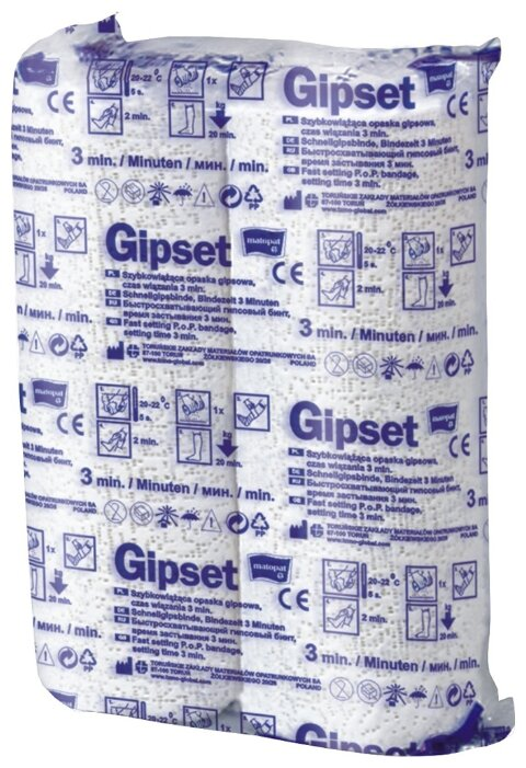 Matopat бинт гипсовый Gipset быстросхватывающий 3 м х 20 см (2 шт.)