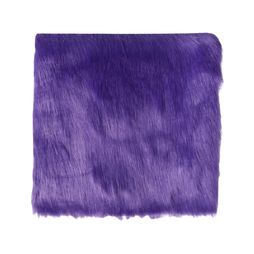 Мех искусственный Арт Узор для творчества 2150 г/м, 30x30 см фиолетовый
