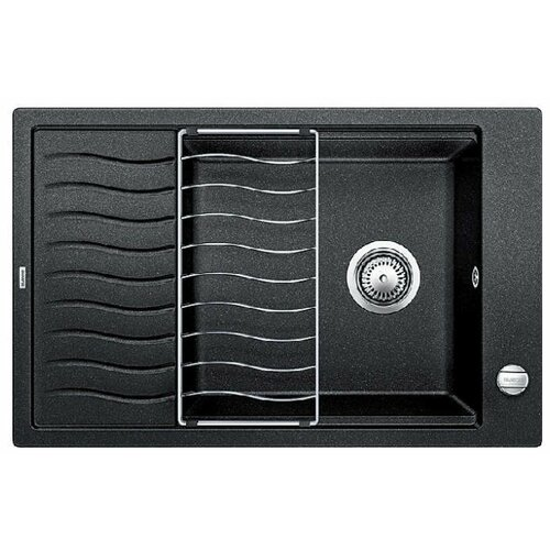 Врезная кухонная мойка 78 см Blanco Elon XL 6S с клапаном-автоматом 524834 антрацит кухонная мойка blanco elon xl 6s silgranit жасмин с клапаном автоматом