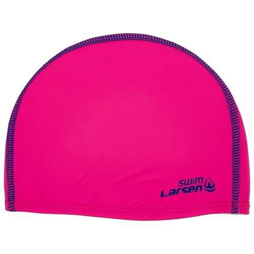Фото - Шапочка для плавания Larsen 3059 розовый/синий очки для плавания larsen dr g101 черный