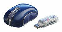 Мышь Vivanco Optical FM Hot Rod Blue USB
