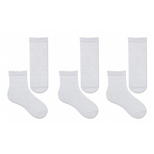 Купить Носки НАШЕ комплект из 3 пар, размер 16 (14-16), белый