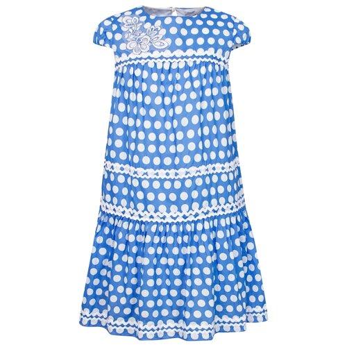 Платье Ermanno Scervino размер 174, горошек/голубой