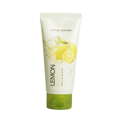 NATURE REPUBLIC пилинг-гель для лица Lemon Real nature peeling gel wash 120 мл фото