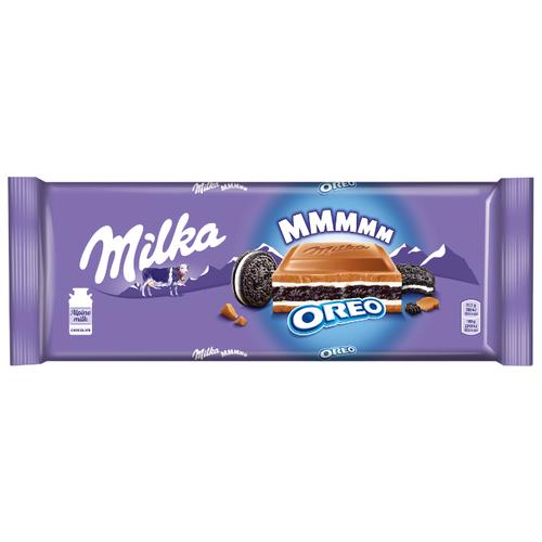 Шоколад Milka молочный с печеньем Oreo и молочной начинкой, 300 г недорого