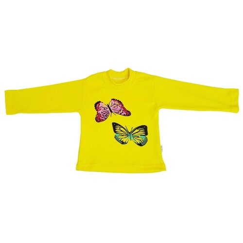 Купить Лонгслив Папитто размер 116, желтый, Футболки и майки