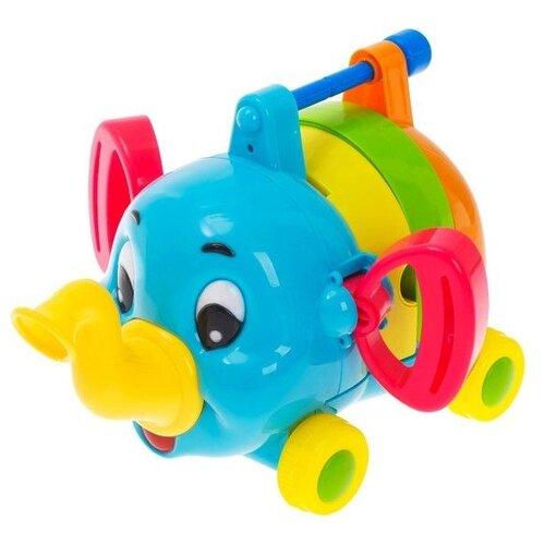 Развивающая игрушка Xin Ying Bao Слон A858 голубой/желтый