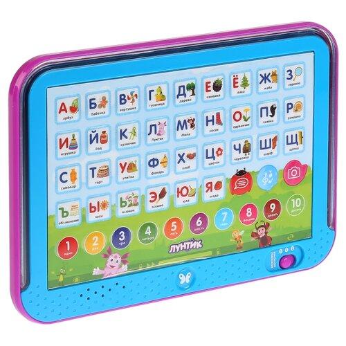 Планшет Умка Азбука Лунтика голубой/фиолетовый сенсорный планшет умка азбука и счет 43 стихотворения