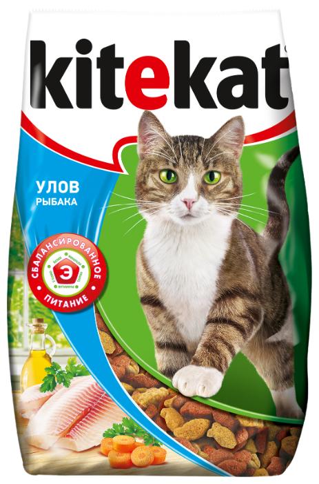 для кошек Kitekat Сухой корм Улов Рыбака