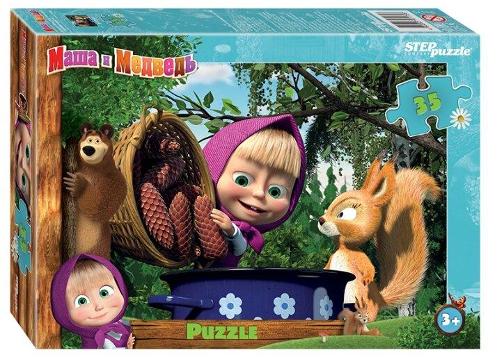 Пазл Step puzzle Анимаккорд Маша и Медведь - 2 (91175) , элементов: 35 шт.