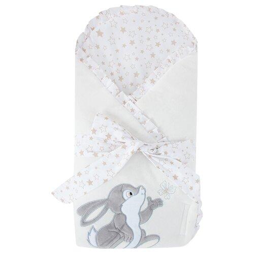 Конверт-одеяло Leader Kids Зайка с бабочкой молочный