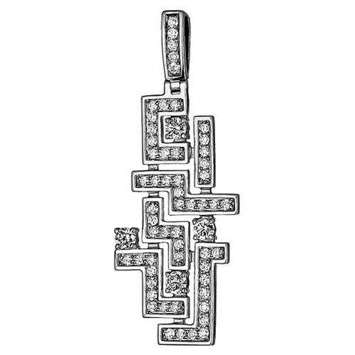 Эстет Подвеска с 60 бриллиантами из белого золота 750 пробы 01П676389