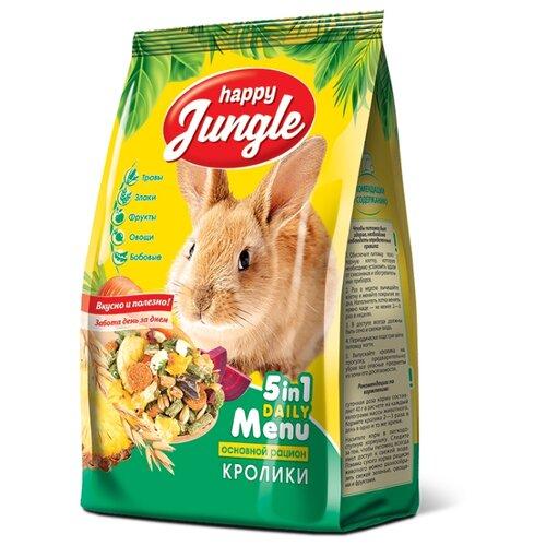 Корм для кроликов Happy Jungle 5 in 1 Daily Menu Основной рацион 400 г