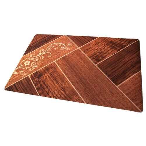 Придверный коврик RemiLing Паркет (принт), размер: 0.9х0.6 м, коричневыйКовры и ковровые дорожки<br>