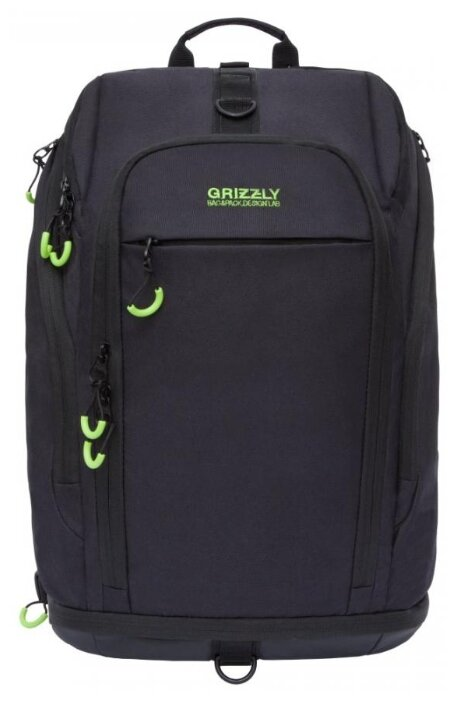 Купить <b>Рюкзак Grizzly</b> RQ-906-1 20 черный/салатовый по ...