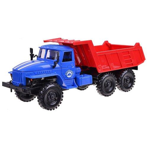 Грузовик Play Smart Автопарк Урал (9465) 1:38 20 см красный/синий грузовик play smart автопарк урал аварийная служба 9464a 25 см оранжевый