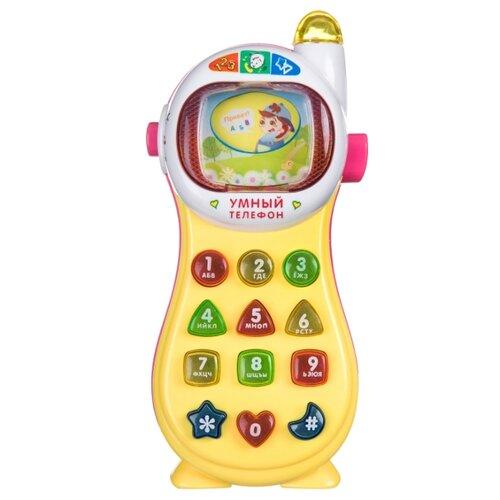 развивающая игрушка bondibon автомобиль корабль разноцветный Развивающая игрушка BONDIBON Умный телефон ВВ4543 желтый