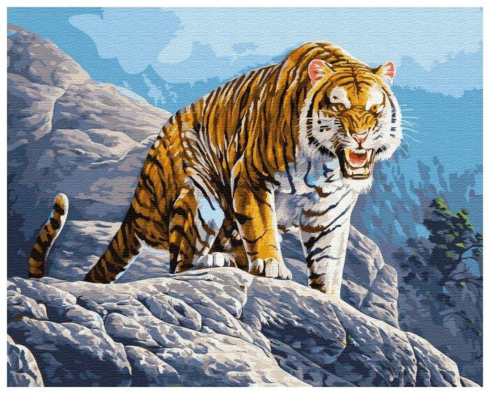 """Купить Картина по номерам Paintboy """"Тигр"""" 40х50 по низкой цене с доставкой из Яндекс.Маркета (бывший Беру)"""