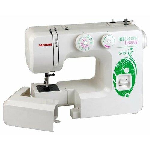 Швейная машина Janome S-19, бело-зеленый швейная машина janome vs 54s бело сиреневый